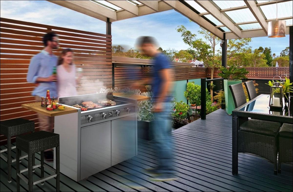Sommerküche Terrasse : Outdoorküche sommerküche auf der terasse