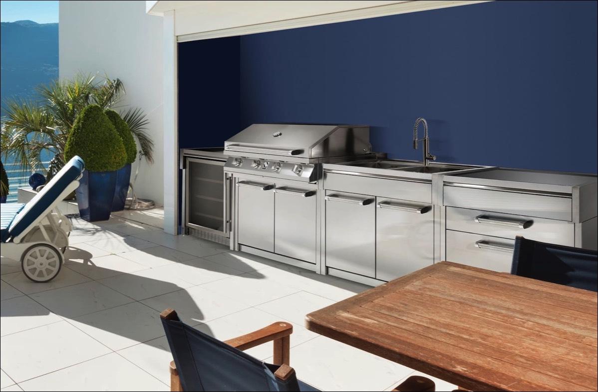 Sommerküche Module : Outdoorküche sommerküche auf der terasse